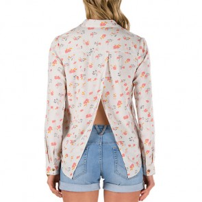 Vans Women's Chinatown Long Sleeve Shirt - White Sand 70's Floral