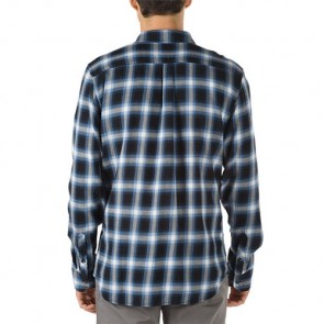 Vans Beachwood Long Sleeve Flannel - Black/Delft