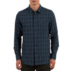 Volcom Brodus Long Sleeve Flannel - Smokey Blue