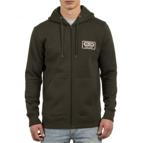 Volcom Shop Zip-Up Hoodie - Dark Green
