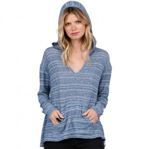 Volcom Women's Lived In Go Hooded Top - Blue Drift Wash