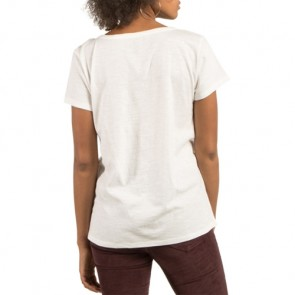 Volcom Women's On The Line V-Neck T-Shirt - Star White