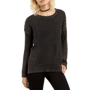 Volcom Women's Twisted Mr. Sweater - Black