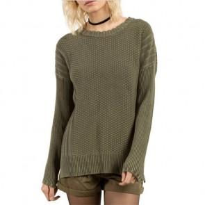 Volcom Women's Twisted Mr. Sweater - Dark Camo