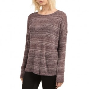 Volcom Women's Go Go Crewneck Sweater - Plum
