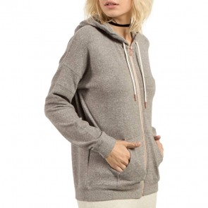 Volcom Women's Lil Zip Hoodie - Charcoal Heather