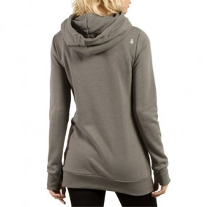 Volcom Women's Walk On By High Neck Hoodie - Charcoal