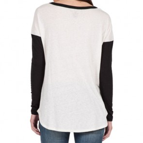 Volcom Women's Daydreamer Long Sleeve Top - Vintage White