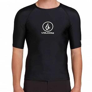 Volcom Lido Solid Short Sleeve Rash Guard - Black