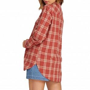 Volcom Women's Getting Rad Flannel - Dark Clay