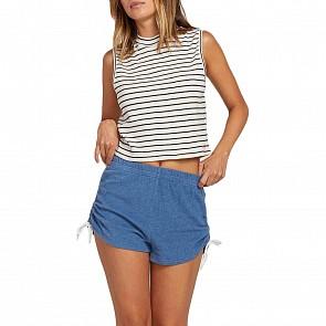 Volcom Women's Lil Fleece Shorts - Blue Drift