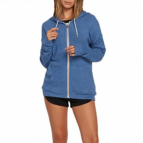 Volcom Women's Lil Fleece Zip Hoody - Blue Drift