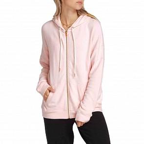 Volcom Women's Lil Zip Hoody - Blush Pink