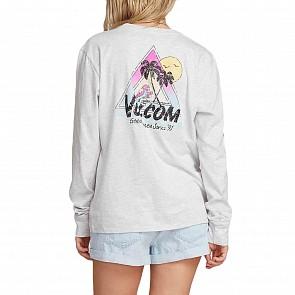 Volcom Women's VLCM 1991 Long Sleeve T-Shirt - Light Grey