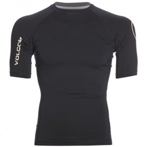 Volcom Lido Solid Short Sleeve Rash Guard - Black
