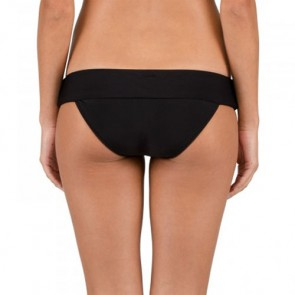 Volcom Women's Simply Solid Halter Modest Two-Piece Swimsuit - Black