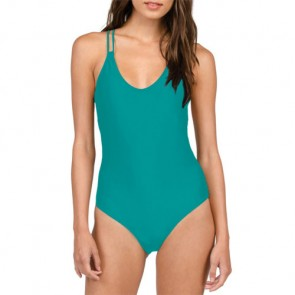 Volcom Women's Simply Solid One-Piece Swimsuit - Teal