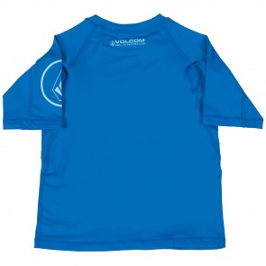 Volcom Toddler Solid Short Sleeve Rash Guard - Baja Indigo