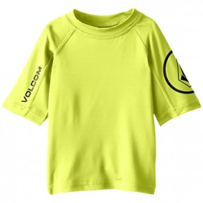 Volcom Toddler Solid Short Sleeve Rash Guard - Lime