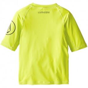 Volcom Toddler Solid Short Sleeve Rash Guard - Lime