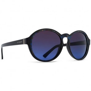 Von Zipper Women's Lula Sunglasses - Black Swirl/Brown Blue Gradient