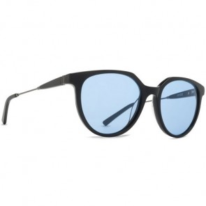Von Zipper Hyde Sunglasses - Black Gloss Satin Gunmetal/Light Blue Vintage