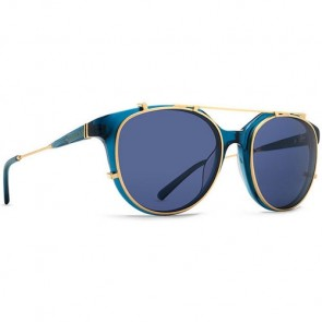 Von Zipper Hyde Sunglasses - Dark Navy/Translucent Gold/Clear Blue