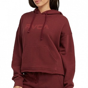 RVCA Women's Pinner Cropped Hoody - Magenta Fade