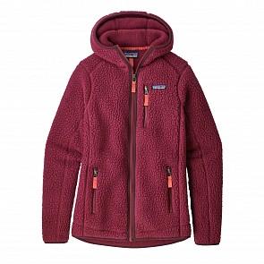 Patagonia Women's Retro Pile Fleece Hoody - Arrow Red