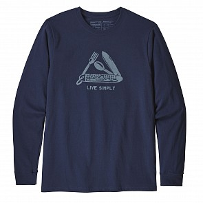 Patagonia Simply Pocketknife Long Sleeve T-Shirt - Classic Navy