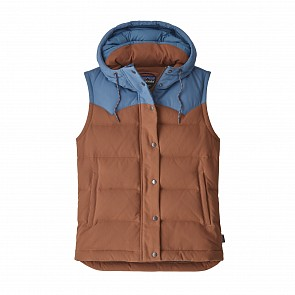 Patagonia Women's Bivy Down Hooded Vest - Sisu Brown