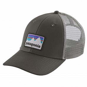 Patagonia Shop Sticker Patch LoPro Trucker Hat - Forge Grey