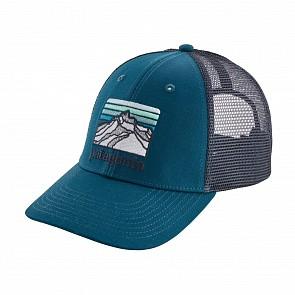 Patagonia Lines Logo Ridge LoPro Trucker Hat - Big Sur Blue