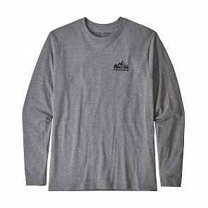 Patagonia Fitz Roy Scope Long Sleeve Responsibili-T-Shirt - Gravel Heather