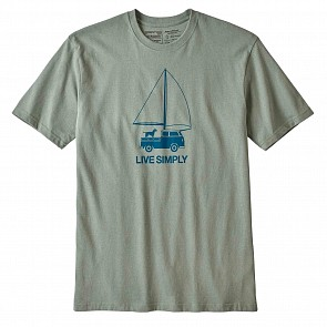 Patagonia Live Simply Wind Powered T-Shirt - Celadon