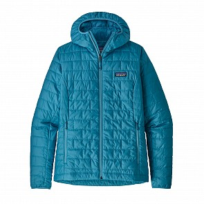Patagonia Women's Nano Puff Hoody Jacket - Mako Blue