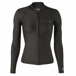 Patagonia Women's R1 Lite Yulex 1.5mm Front Zip Jacket - Black