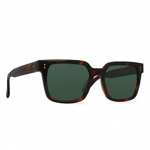 Raen West Polarized Sunglasses - Koala Tortoise/Green - Side Angle