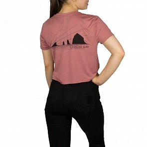 Cleanline Women's Haystack Rays Cropped Top - Mauve