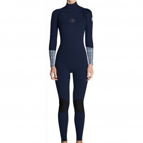 Rip Curl Women's Flash Bomb 3/2 Chest Zip Wetsuit - Blue