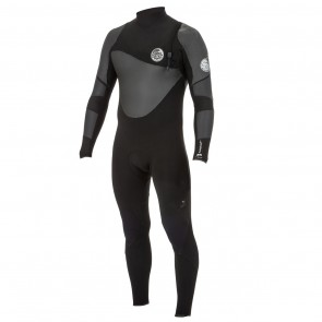 Rip Curl Flash Bomb Heat Seeker 4/3 Zip Free Wetsuit - Black