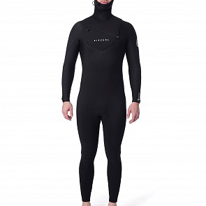 Rip Curl Dawn Patrol 5/4 Hooded Chest Zip Wetsuit - Black