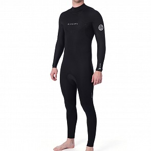 Rip Curl Dawn Patrol Plus 4/3 Back Zip Wetsuit - Black