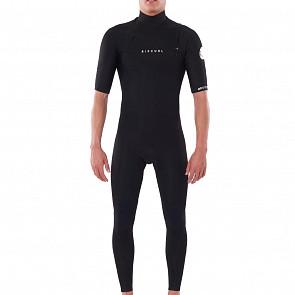 Rip Curl Dawn Patrol 2mm Short Sleeve Chest Zip Wetsuit - Black