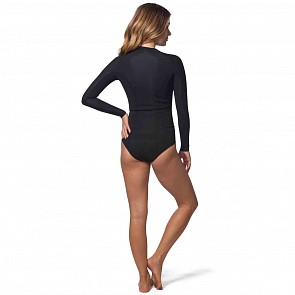 Rip Curl Women's G-Bomb 1mm Bikini Cut Long Sleeve Spring Wetsuit - Black