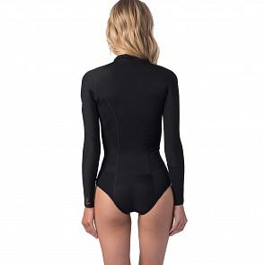 Rip Curl Women's G-Bomb 1mm Bikini Cut Long Sleeve Spring Wetsuit - Black