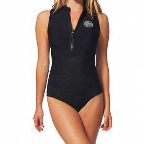 Rip Curl Women's G-Bomb 1mm Cap Sleeve Spring Wetsuit - Black