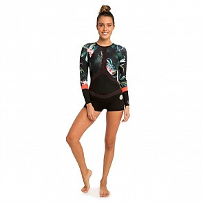 Rip Curl Women's G-Bomb Madison 1mm Boyleg Long Sleeve Spring Wetsuit - Coral