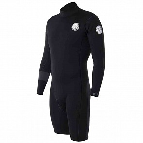 Rip Curl Aggrolite 2mm Long Sleeve Back Zip Spring Wetsuit - Black