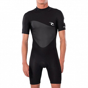 Rip Curl Omega 1.5mm Short Sleeve Spring Wetsuit - Black